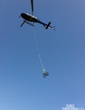 The Look 695 Aerolight arrived via helicopter