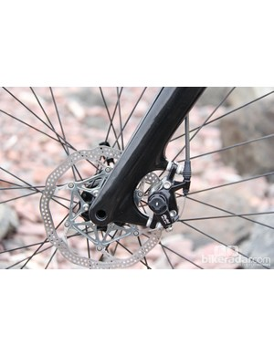 The fork also has post-mount disc brake tabs