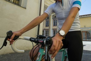 Liz Dimmock training for her WorldRide on a stretch of the Giro d'Italia route