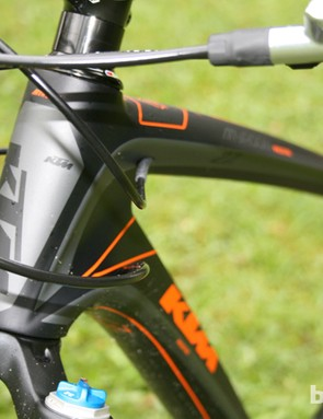 Internal routing keeps cables away from grime and dirt on the KTM Myroon
