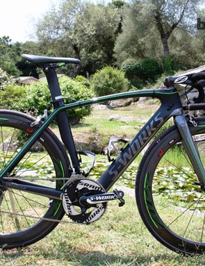 Mark Cavendish unveiled his special edition Specialized Venge after taking the 100th win of his career at the Giro d'Italia stage 12 in Treviso in May