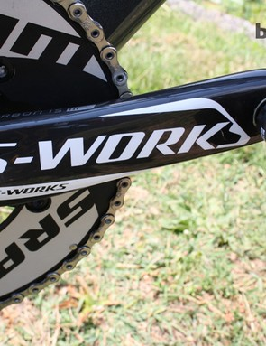 170mm Specialized S-Works cranks have been fitted