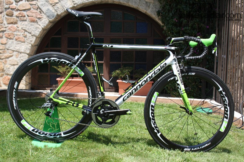 Pater Sagan's Cannondale SuperSix EVO Hi-Mod 2013 looking hot in the Corsican sun