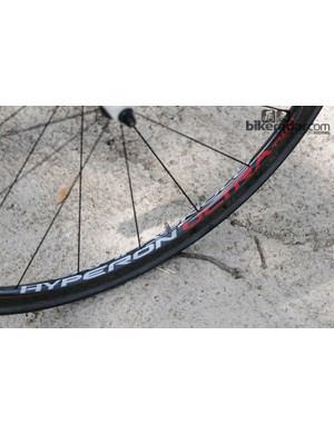 Campagnolo's hyper light Hyperon Ultra Two carbon tubulars ideal in the hills