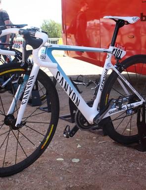 Joaquim Rodriguez (Katusha) is riding aboard this Canyon Aeroad CF frame