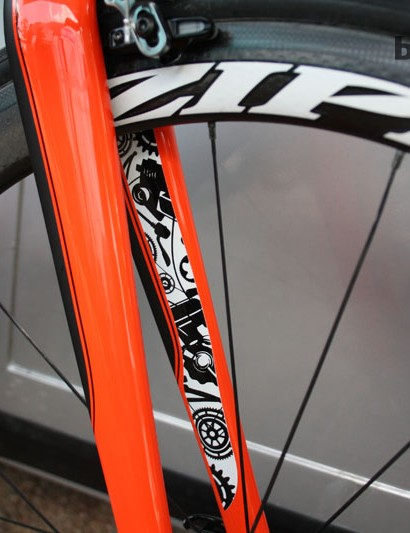 Sylvain Chavanel, who successfully defended his French national TT title earlier this month, chose the vibrant orange to match his Camaro, which can get to 0-100kmh in five seconds