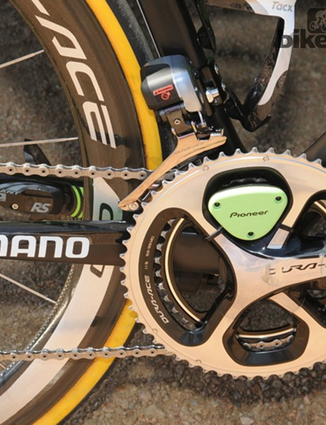 Dutch Team Belkin had seen that most components – including the Pioneer power meters -  matched the sponsors new colours