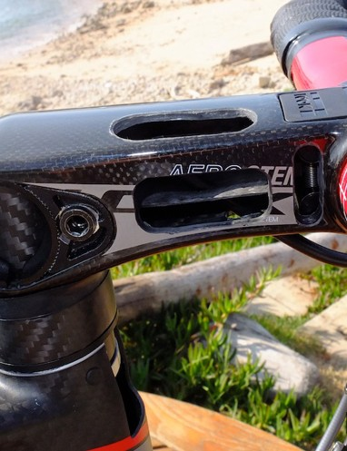 The new adjustable Aerostem, showing internal strengthening and the attachment area for the bar clamp