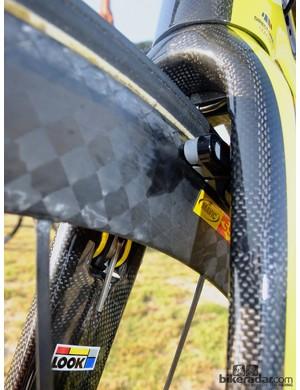 Internal view of the front aero brake