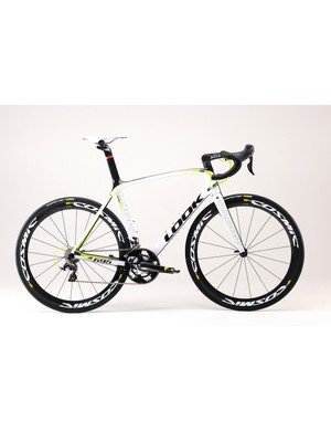 Look 695 Aerolight in white acid finish with Dura-Ace mechanical and Mavic Cosmic Carbone SLE wheels