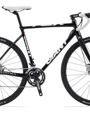 The entry-level Giant TCX SLR 2 gets a Shimano 105 transmission, FSA alloy crank, and house-brand wheels