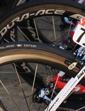 The Schwalbe One bears the makers First Ride stamp, applied to their new products