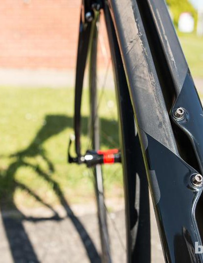 The Vis Vires has a split down tube, dubbed the Twin-Vane