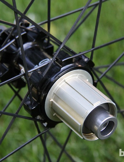 The rear wheel can be converted from 10mm quick-release to a 142x12mm thru axle (shown here)