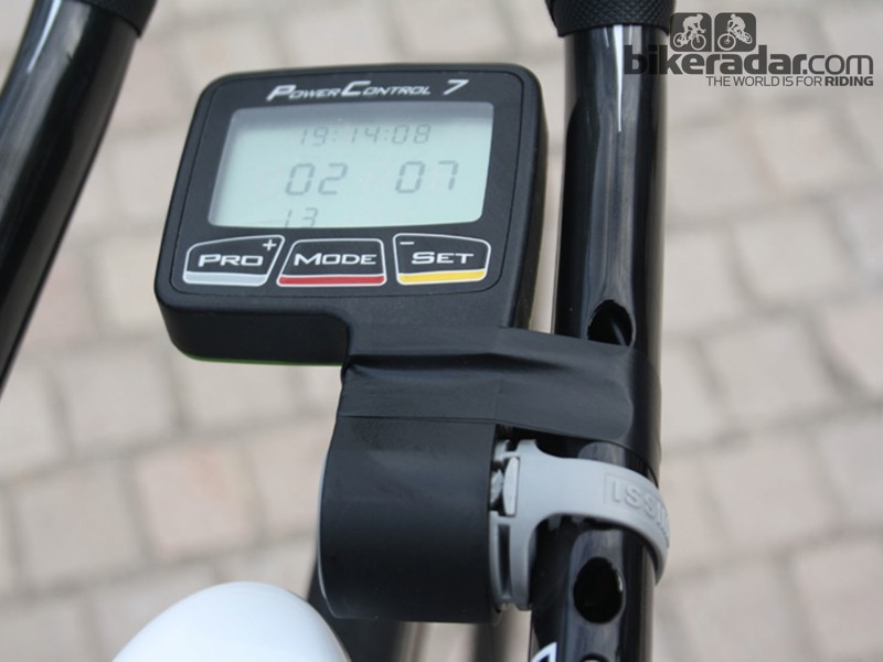 In addition to the new head unit, SRM are working on new mounting configurations for time triallists and triathletes. Goodbye insulating tape?