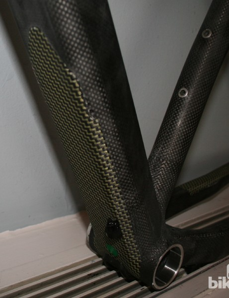 The Lametta comes with Kevlar protectors on the down tube...