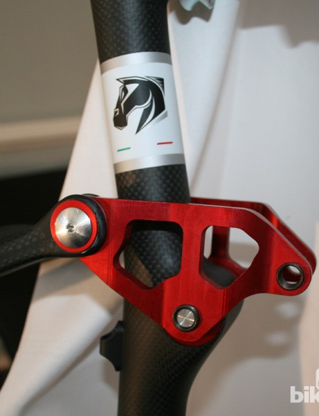 The suspension linkage on the Catria up close