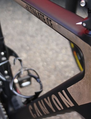 Alexander Kristoff (Katusha) was riding an iridescent, gold accented Canyon Ultimate CF