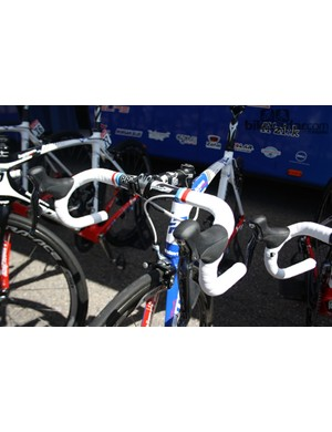 Arthur Vichot's (FDJ) Lapierre decked out in the French national championship colours