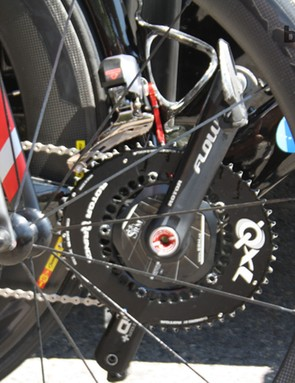 David Millar (Garmin-Sharp) is using new Rotor QXL chainrings, which are 15 percent more ovalised than the standard Q-Rings used by some of his teammates