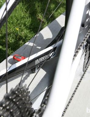 Felt's carbon construction allows for a 6.8kg (15lb) bike –with pedals