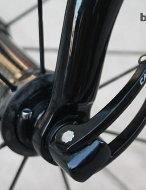 The Campagnolo Bora 35 hubs use ceramic hub bearings
