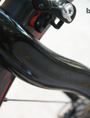 The sculpted seatstays are a characteristic feature of the Dogma