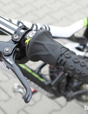Clementz uses this Grip Shifter to control his rear suspension