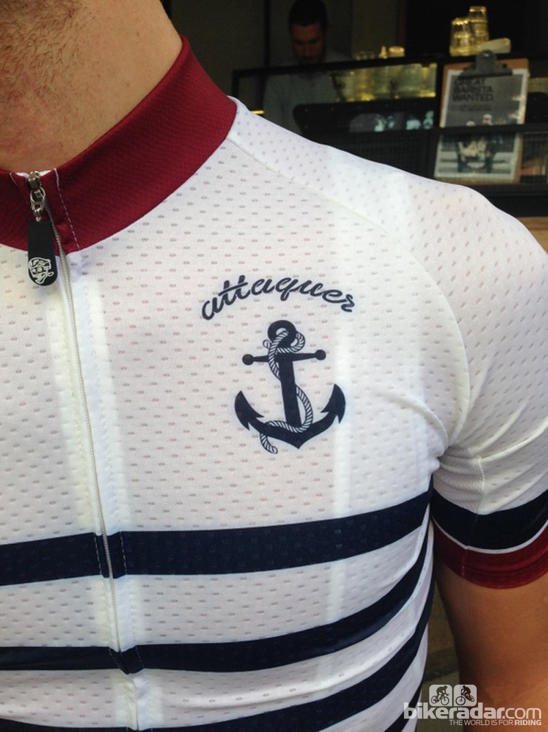 The nautical theme on the 'Anchors and Skulls' kit includes an anchor on the breast of the jersey