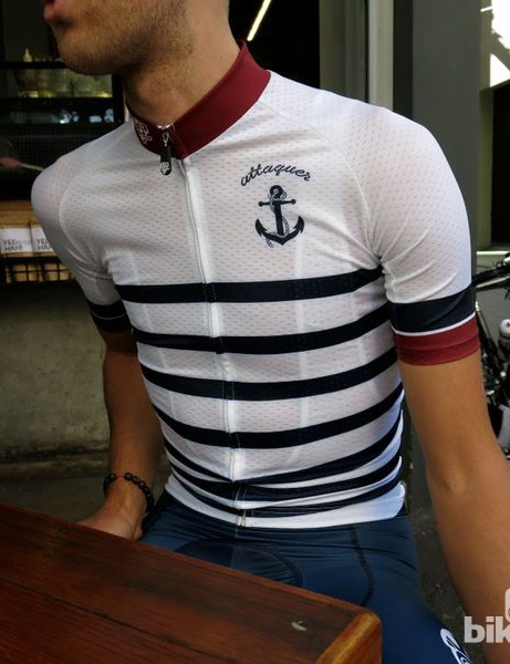 Dry weather conditions are a must for the white base Anchors and Skulls jersey