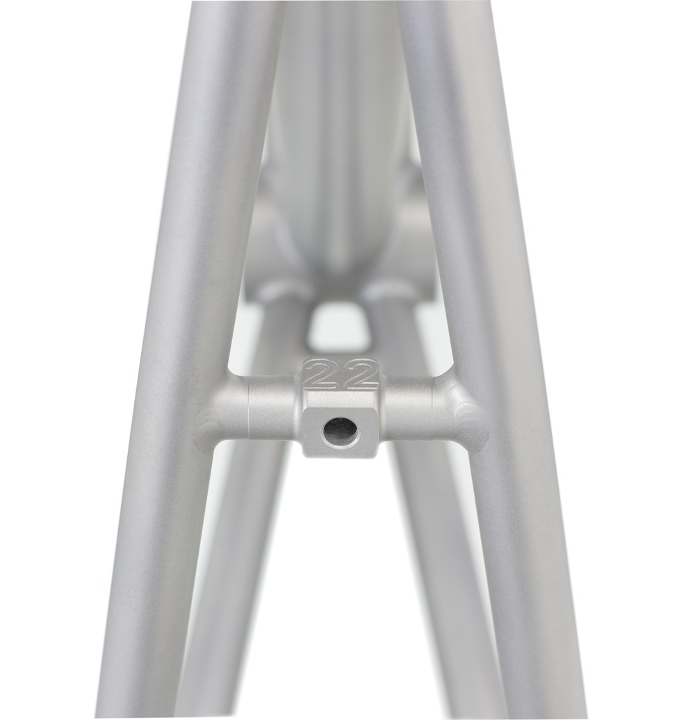You don't have to be a titanium fan to appreciate the neat detail on the seatstay brace