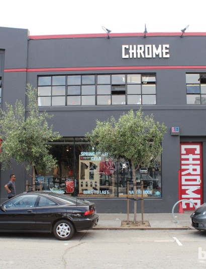 Chrome has four company stores. This is the San Francisco hub