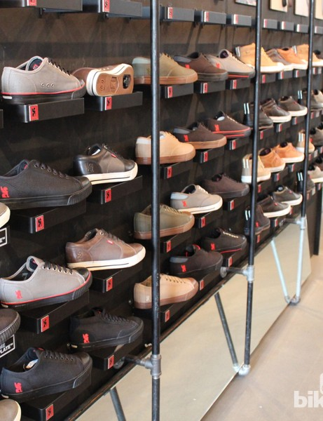 Chrome has four styles of shoe: Flexplate (SPD), Powerplate (stiff shank), All City (rubber sole) and Storm (waterproof)