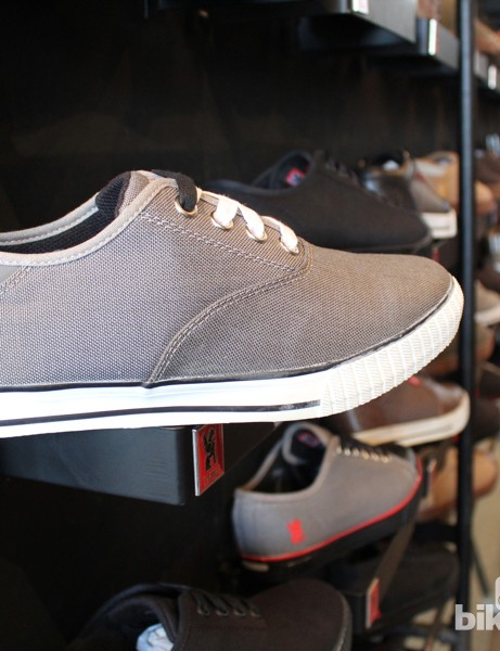 A pair of Chrome Flexplate shoes look like normal city kicks until you see the soles