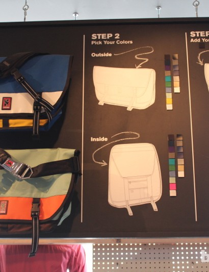You can order a custom bag online or in person, picking the materials, colors and design