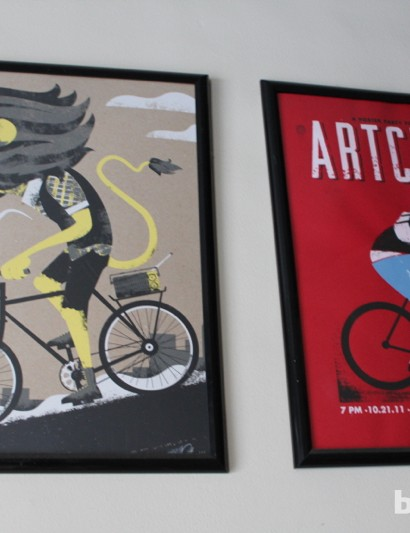 You won't find much Tour de France art in Chrome; the company celebrates a different type of cycling