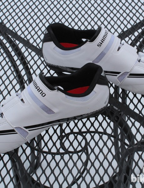 While many shoe and clothing companies are going for day-glo orange and neon green, don't expect anything wild from Shimano in terms of colour. Your choice is white or black with the R170