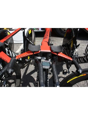 Joaquim Rodriguez (Katusha) won the prize for lowest-slung extensions in the peloton – they were fitted below the bar