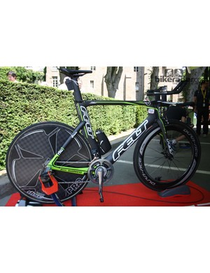 Tom Dumoulin's (Argos-Shimano) Felt DA TT bike. The team are currently negotiating with their bike suppliers for 2014 onwards