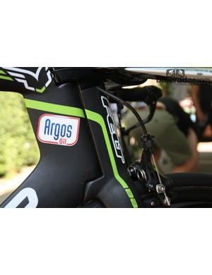 The Felt DA's integrated steering assembly is similar to that on the Look 596 used by Cofidis