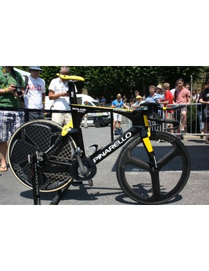 Chris Froome's (Team Sky) Pinarello Bolide – whose else could it be?