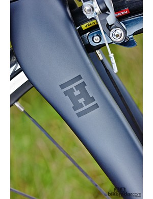 The frame is alloy, but up front is an all-carbon fork