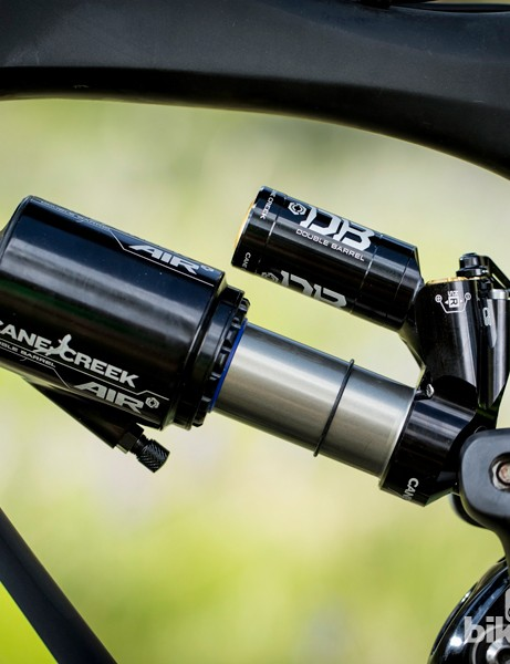 The new Cane Creek DBair CS shock builds on the already stellar performance of the Double Barrel Air by adding a Climb Switch lever that controls independent low-speed compression and rebound damping to make a more capable climber without sacrificing downhill performance