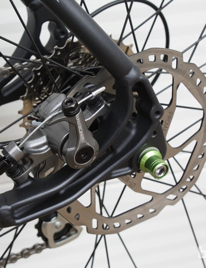 The chainstay-located post mount rear disc leaves room to attach mudguards and racks