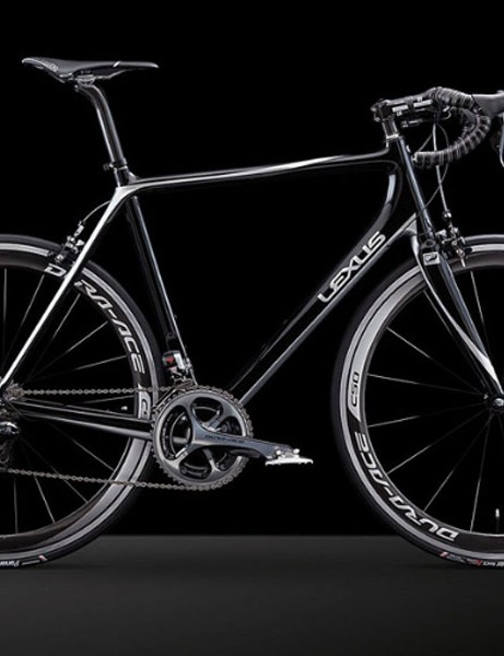 Instead of cobranding with a bike company, Lexus claims it built the road bike in-house