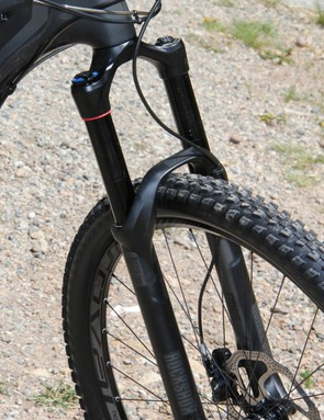 The Stumpjumper FSR EVO 29 comes with a 140mm RockShox Pike for; the 26in-wheeled version bumps up the travel to 150mm