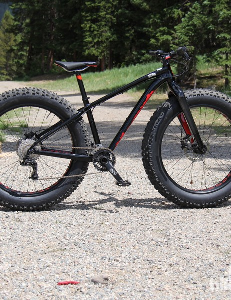 A first for Specialized – the Fat Boy fat bike is capable of running 5in-wide tires