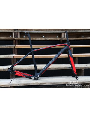 The Specialized Stumpjumper 29 Singlespeed is available as a bare frameset with the company's ultra-light Chisel rigid carbon fiber fork