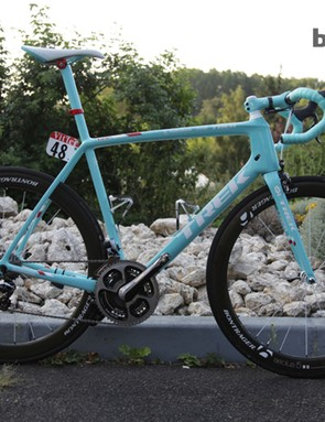Jens Voigt has been on the attack on this Madone 7-Series