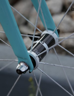 The hub shells are a carbon/aluminium mix; spokes and hub internals are DT